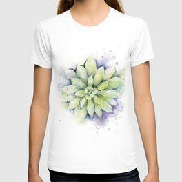 Watercolor Succulent T-shirt
