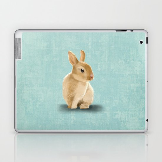 Portrait of a little bunny Laptop & iPad Skin