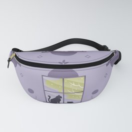 Happy At Home - Playful Cat Pattern V2 Fanny Pack