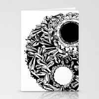 ying yang Stationery Cards featuring Ying-Yang by Carina Maitch
