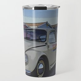 Southend on Sea Beach Huts Homage Travel Mug