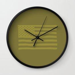 American Flag Piedmont Wall Clock