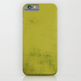 Green foliage color abstract. iPhone Case