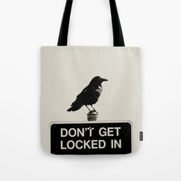 Don't Lock Me In - Graphic Birds Series, Plain - Modern Home Decor Tote Bag