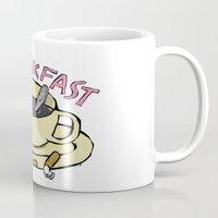 breakfast Mugs featuring BREAKFAST by Gianluca Floris