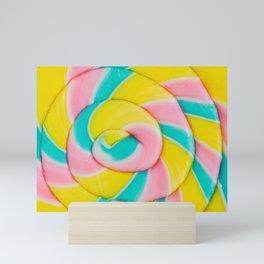 Pastel Rainbow Lollipop Mini Art Print