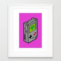 gameboy Framed Art Prints featuring Gameboy Love by Artistic Dyslexia