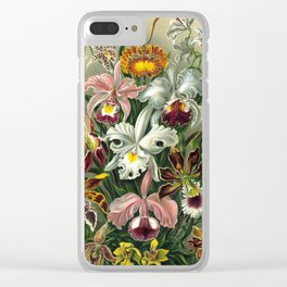 Vintage flowers by Ernst Haeckels Clear iPhone Case