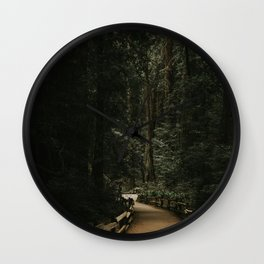 Trail Through Redwood Forest Wall Clock