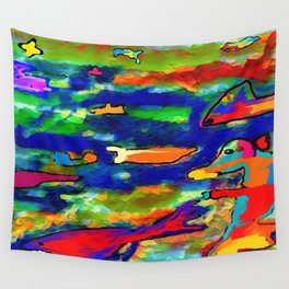 The submerged world Wall Tapestry