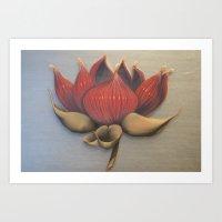 Muscle Lotus Art Print