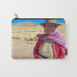 Peruvian village woman. Carry-All Pouch