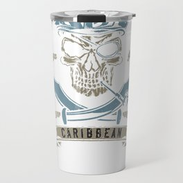 Caribbean Islands Pirate Skull Gift T-Shirt Travel Mug