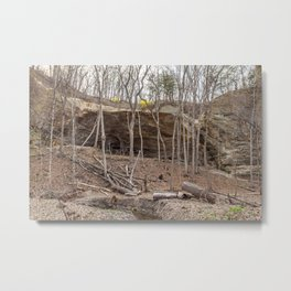cave in the woods Metal Print