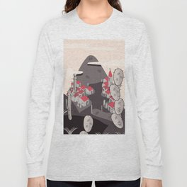 Small Town on the hillside Long Sleeve T-shirt