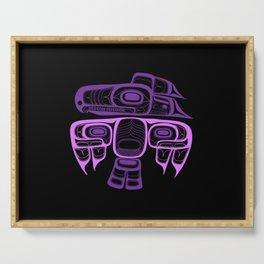 Tlingit thunderbird purple Serving Tray