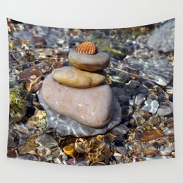 stones with shell Wall Tapestry