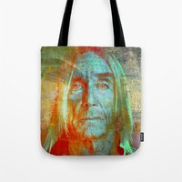 iggy Tote Bags featuring Iggy by Ganech joe