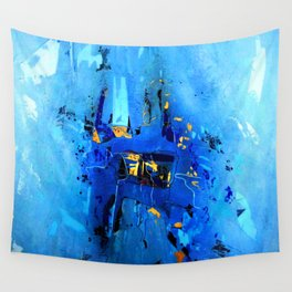 Blue, Black and White Wall Tapestry