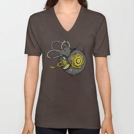 Steampunk Anatomy Cochlea Unisex V-Neck
