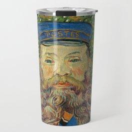 Portrait of the Postman Joseph Roulin by Vincent van Gogh Travel Mug