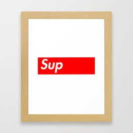 Sup Framed Art Print