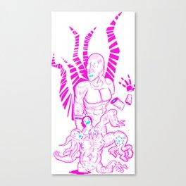 Purple Pain Canvas Print