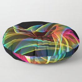 Dancing Northern Lights, Abstract Summer Sky Floor Pillow