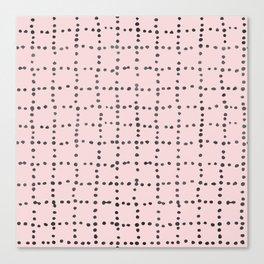 Drunk Polka Dot Grid Dance Canvas Print