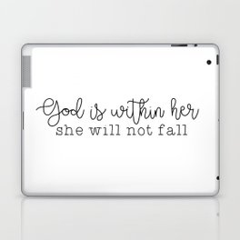 God Is Within Her Laptop & iPad Skin