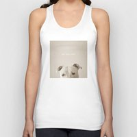 pit bull Tank Tops featuring Pit bull love  by Laura Ruth