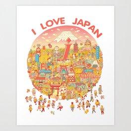 LOVE JAPAN Art Print