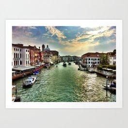 Sunrise on the Grand Canal, Venice Art Print