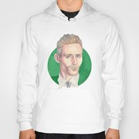 tom hiddleston Hoodies featuring Hiddleston by Megan Diño