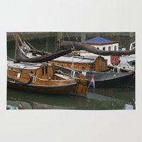 boats Area & Throw Rugs featuring Boats by constarlation