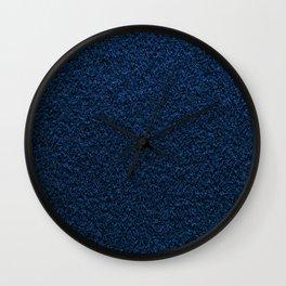 Dark Blue Fleecy Material Texture Wall Clock