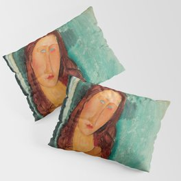 "Amedeo Modigliani ""Jeanne Hebuterne in a Yellow Jumper"" Pillow Sham"