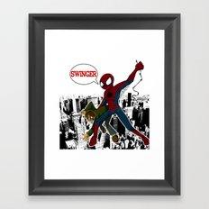 Swinger- A spiders story Framed Art Print