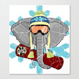 Elephant Snowboard | DopeyArt Canvas Print