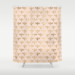 Honey Bees (Pink) Shower Curtain