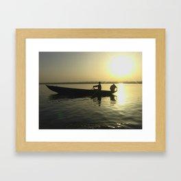 Awakening in Varanasi  Framed Art Print