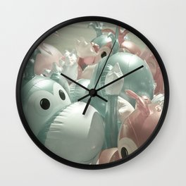 Monkeying Around Monkey, Carnival, fair, ride, amusement, whimsical, fun,rainbow,  Wall Clock