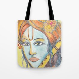 Lord Krishna painting from Russia Tote Bag