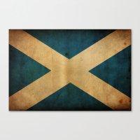 scotland Canvas Prints featuring Scotland by NicoWriter