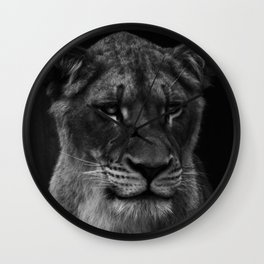 Her Majesty the Lioness Wall Clock
