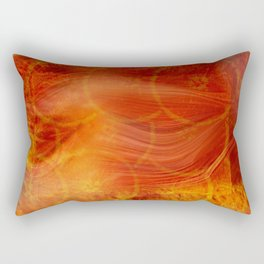 abstract orange background Rectangular Pillow