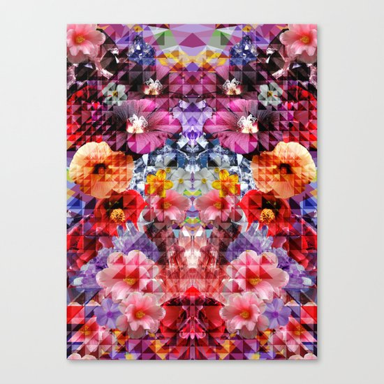 Crystal Floral Canvas Print