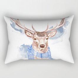 Winter Deer Rectangular Pillow