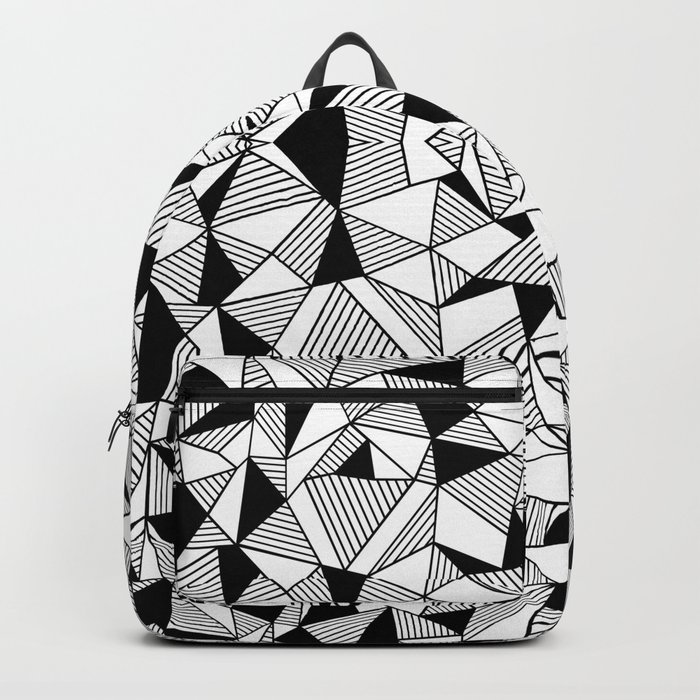 Ab Lines Tile with Black Blocks Backpack