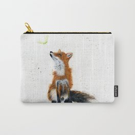 Maple Key Fox - animal watercolor painting Carry-All Pouch